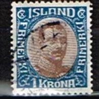 ISLANDE /Oblitérés/Used/1920 - Christian X - Oblitérés