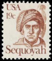 1980 USA Sequoyah Stamp Sc#1859 Famous Cherokee Language Newspaper Costume - Languages