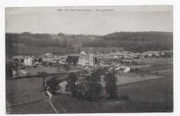 (RECTO / VERSO) CHAMPIER EN 1942 - N° 2346 - VUE GENERALE - BEAU CACHET - CPA - Autres Communes