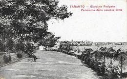 Tarente (Taranto) - Giardino Peripato - Panorama Della Vecchia Città - Ufficio Revisione Stampa - Carte Non Circulée - Taranto