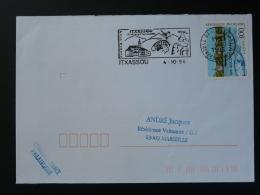 64 Pyrénées Atlantique Itxassou Pont Bridge Vol à Voile - Flamme Sur Lettre Postmark On Cover - Postmark Collection (Covers)