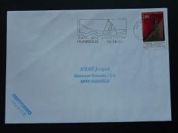 68 Haut Rhin Huningue Rafting Eaux Vives 1994 - Flamme Sur Lettre Postmark On Cover - Rafting