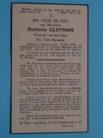 DP Nathalie CLEYMAN ( Ed. Van Beveren ) Evergem 17 Mei 1854 - Evergem-Belzeele 19 Juni 1937 ( Zie Foto's ) ! - Avvisi Di Necrologio