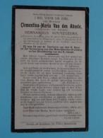 DP Clementina Van Den ABEELE ( Bernardus Nimmegeers ) Evergem 14 April 1855 - Mendonck 17 Aug 1911 ( Zie Foto's ) ! - Esquela
