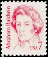 1985 USA Abraham Baldwin Stamp Sc#1850 Famous Constitution University - History