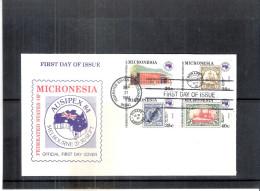 FDC Micronésie - Expo Ausipex 84 - Timbres Sur Timbres - Série Complète (à Voir) - Micronésie