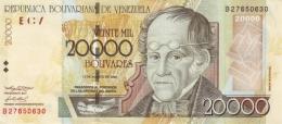 VENEZUELA 20000 BOLIVARES 2002 P-86a UNC 13.8.2002 [ VE086a2 ] - Venezuela