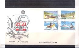 FDC Nauru - Pêche - Wipa 1981 - Série Complète (à Voir) - Nauru