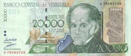 VENEZUELA 20000 BOLIVARES 1998 P-82 AU/UNC  [ VE082 ] - Venezuela