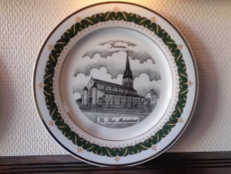 * Kuurne (Kortrijk) * Uniek Bord KUURNE Porselein (g Swaenepoel) Assiette TOP Rare - Céramiques