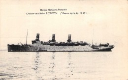 "Cpa Paquebot Identifié ""Lutetia "" Steamer Compagnie Sud Atlantique Guerre Navale 1914 1915 Ww1 Marine Militaire Cachet - Piroscafi"