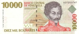 * VENEZUELA 10000 BOLIVARES 1998 P-81 UNC [ VE081 ] - Venezuela