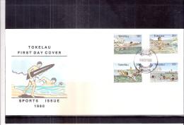 FDC Tokelau - Sports Aquatiques  - Série Complète (à Voir) - Tokelau