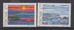 Faroe Islands 1987 Torshavn Views 2v ** Mnh (31924D) - Faeroër