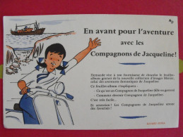 Buvard Chocolat Menier. Aventures De Jacqueline. Album D´images. Vers 1950. - Cocoa & Chocolat