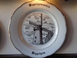 * Evergem (Sleidinge - Ertvelde - Wippelgem - Stoepe) * 6 Unieke Borden Magvam Porselein TOP Gent Rare - Signés
