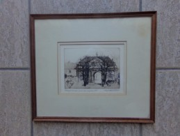 Vorst Abbaye De Forest Anno 1764 Style Louis XVI Door Henri Quittelier - Estampas & Grabados