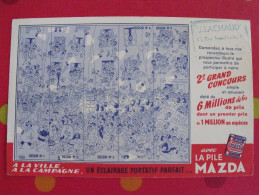 Buvard Pile Mazda. Illustration De Dubout. Vers 1950. - Buvards, Protège-cahiers Illustrés