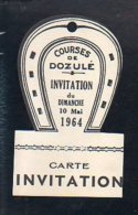 Ticket Ou Carte Entrée Courses Chevaux  / Invitation Aux Courses à L'Hippodrome De Dozulé Le 10 Mai 1964 - Biglietti D'ingresso