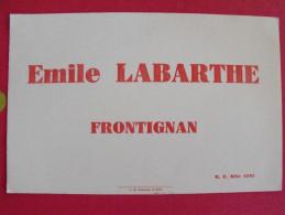 Buvard Emile Labarthe. Frontignan. Sète. Vers 1950. - L