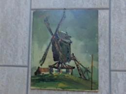 Lochristie De Molen Van Zaffelare Door Gesigneerde Schilder - Oleo