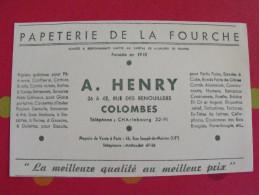 Buvard Papeterie De La Foruche. A. Hery. Colombes. Vers 1950. - Papeterie