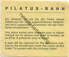 Pilatus-Bahn - Sitzplatzreservierung - Bahn