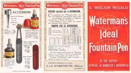 """04796 """"WATERMAN'S IDEAL FOUNTAIN PEN-L. & C. HARDTMUTH- MILANO-PENNE STILOGRAFICHE-FONDATA 1889"""" PUBBL. - Pubblicitari"""