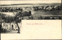 Cp Heinzenbach Im Rhein Hunsrück Kreis, Gasthof, Blick Auf Ortschaft Und Umgebung - Other