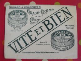 Buvard Cirage Crème à La Cire Vite Et Bien. Montrouge. Vers 1930 - Wash & Clean