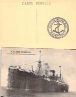 """C P A   Bateau Navire  """" Sidi Ferruch """" S.G.T.M Compagnie Générale Des Transports Maritimes Interallié Ww1 - Commerce"""