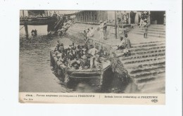 FORCES ANGLAISES A FREETOWN 1914 BRITISH TROOPS EMBARKING AT FREETOWN - Sierra Leone