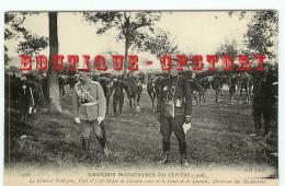 GRANDES MANOEUVRES DU CENTRE (1908) - GENERAL RUSSE PALITZINE Et GENERAL LACROIX - MILITAIRE - Manovre