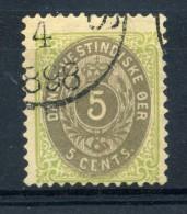 1874-79 DANIMARCA (ANTILLE) N.8 USATO - Danimarca (Antille)