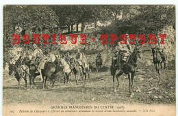 RARE < GRANDES MANOEUVRES DU CENTRE (1908) - PELOTON De CHASSEURS à CHEVAL En ECLAIREURS - MILITAIRE - Manovre