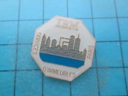 Pin316c Pin´s Pins / THEME INFORMATIQUE : IBM SERVICE D´IMMEUBLES PARIS Rare    INSCRIPTION AU DOS ,  Voir Photo N°2 - A - Informatica