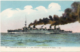 """Marine De Guerre - """"Jules Michelet""""  Croiseur De 1° Classe    (89327) - Oorlog"""