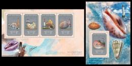 GUINEA 2014 - Shells And Lighthouses - YT 7550-3 + BF1749; CV = 45 € - Vuurtorens