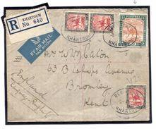 DBW541 1939 Khartoum Registered High Values Airmail/GB Kent Bromley - Sin Clasificación