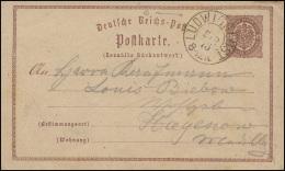 Postkarte P 1 Adler 1/2 Gr. Zweikreistempel LUDWIGSLUST 5.2.75 Nach Hagenow - Deutschland