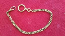Rare Chaine De Montre A Gousset En Plaqué Or MURAT 26 Cm - Bijoux & Horlogerie
