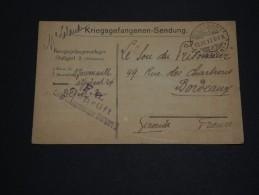 ALLEMAGNE - Carte De Prisonnier Du Camp De Stuttgart En 1917 Pour La France - A Voir - L 1488