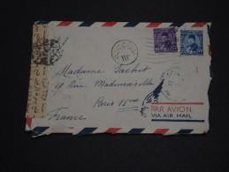 EGYPTE - Enveloppe  Pour Paris Avec Contrôle Postal - A Voir - L 1495 - Covers & Documents