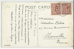 """1924 - CARTE POSTEE à BORD Du PAQUEBOT """"SS CALIFORNIA"""" Avec OBLITERATION MARITIME ANGLAISE Pour MARSEILLE - Marcofilie"""