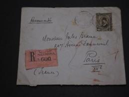 EGYPTE - Enveloppe  En Recommandée Pour Paris En 1937 - A Voir - L 1500 - Egypt