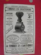 Buvard Fabrique Parisienne De Timbres En Caoutchouc. 1902. Tampon Dateur. Recto-verso - Papeterie