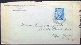 Mexico - Circulated Advertising Censored Cover 1913 Madero Mining Company Saltillo - Minéraux
