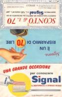 """04820 """"SIGNAL DENTIFRICIO A SCRISCE ROSSE BUONO SCONTO LIRE 70  - NR. 2938213 PRODOTTO LEVER GIBBS"""" - Pubblicitari"""
