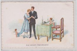 AK - Kunstkarte - Auf Amors Standesamt - 1920 - Hochzeiten