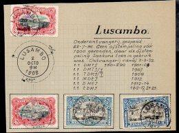 CONGO - MOLS Obl LUSAMBO 1.1 - 4 Timbres - RRR  -AA2 - Congo Belge